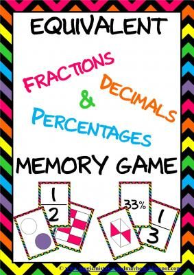 Bright+Chevron+Fractions,+Decimals+&+Percentages+Memory+Game+from+Magic+Mistakes+&+Mayhem+on+TeachersNotebook.com+-++(27+pages)++-+One+of+the+most+popular+games+in+my+classroom!!!+Now+in+CHEVRON!+  A+fun+engaging+way+for+students+to+revise,+practice+and+learn+equivalence+between+  Fractions,+Decimals+&+Percentages+in+the+classic+Memory+Game+Style.  Fraction+equivalency+is+a+major