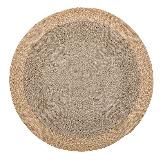 Tortuga Round Jute Rug, Grey by Rug Culture