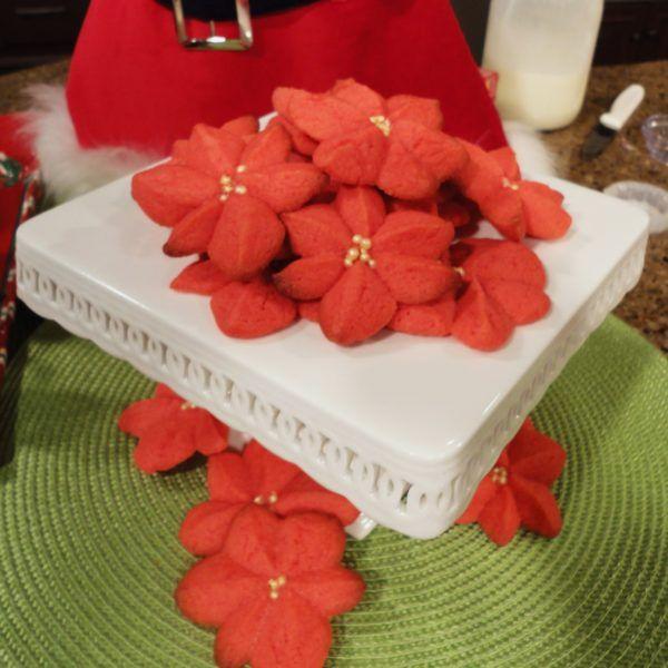 Poinsettia Blossom Cookie Recipe Blossom Cookies Cookies Poinsettia