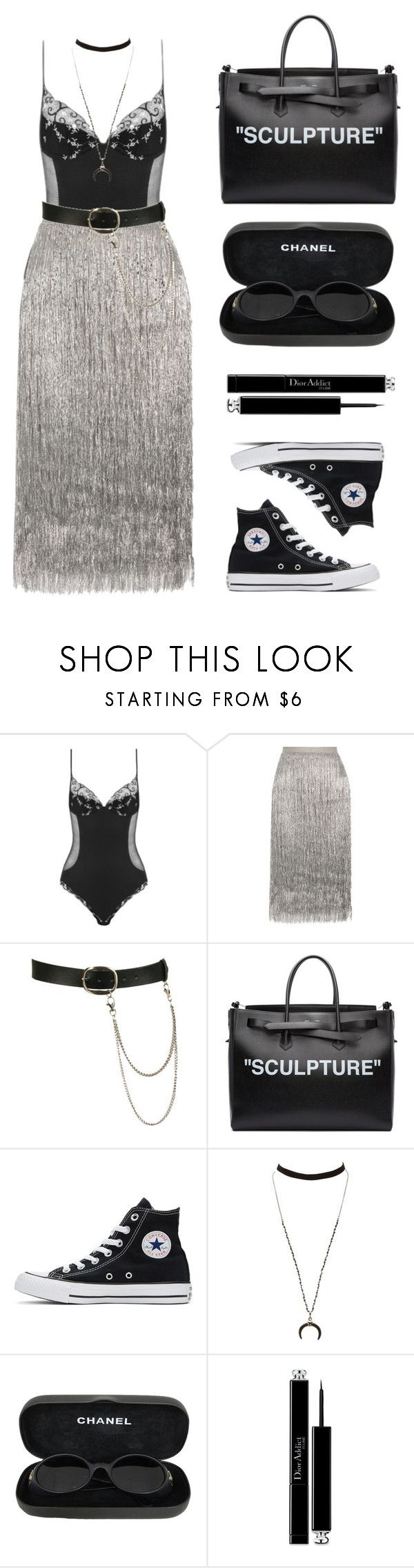 """Star"" by baludna ❤ liked on Polyvore featuring La Perla, Rachel Zoe, Wet Seal, Off-White, Converse, Charlotte Russe, Chanel and Christian Dior"