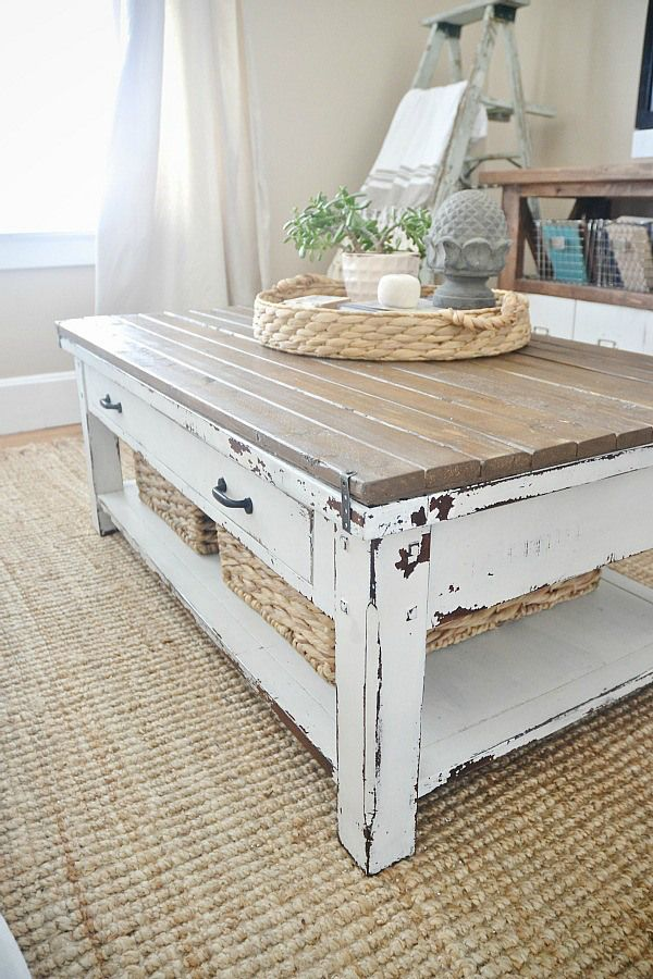 Best Table Images On Pinterest Industrial Coffee Tables - Charming vintage diy sawhorse coffee table