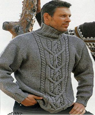 свитер с косами Размеры: 50 - 54 - 56.