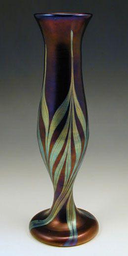 Loetz Art Nouveau Iridescent Glass Vase - Austria   c.1905!
