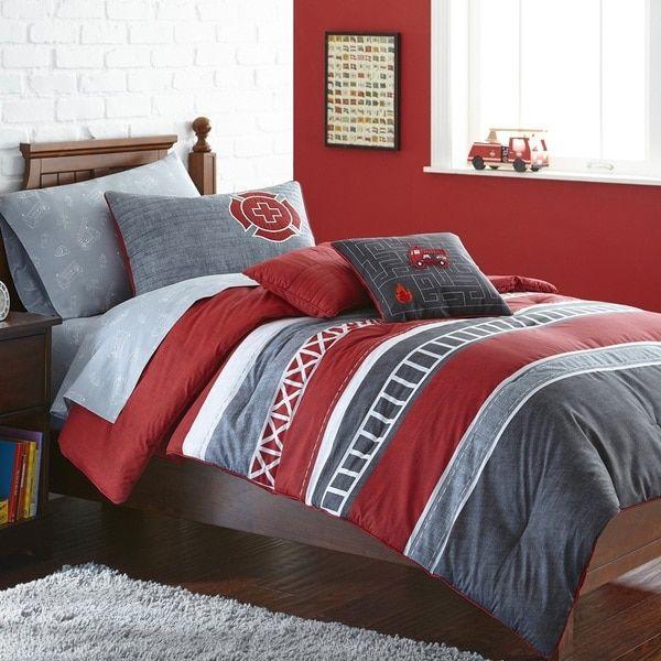 Frank and Lulu Ladder 23 Three-piece Comforter Set | Overstock.com Shopping - The Best Deals on Kids' Comforter Sets