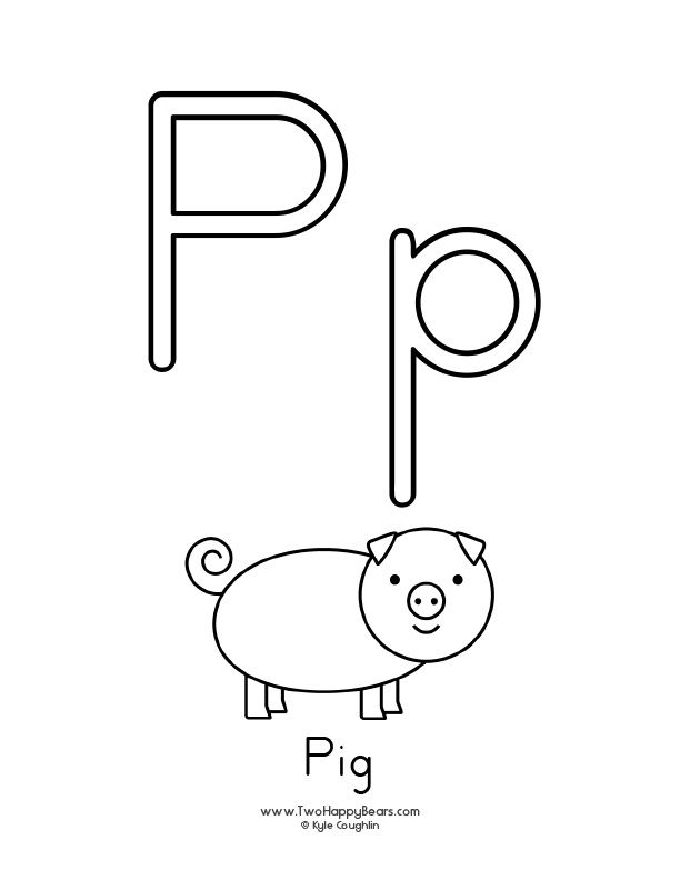 graphic about Printable Letter P known as Totally free printable coloring website page for the letter P, with higher