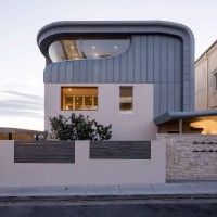A unique creation from Thomson Adsett Architects in Blue/Grey Rheinzink,  double standing seam