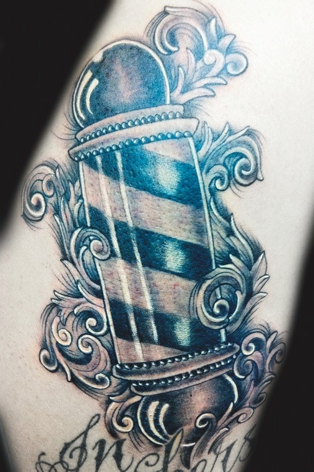 Barber pole | Tatt's | Pinterest | Barber's pole, Tattoos ...