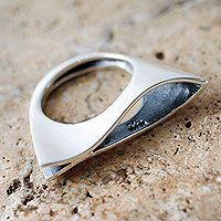 Sterling silver cocktail ring, 'Sea Dream' at @NOVICA by MUNA joyas