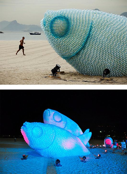 The Inspiration Grid : Design Inspiration, Illustration, Typography, Photography, Art, Architecture & More   Rio de Janeiro: recycled bottle sculpture
