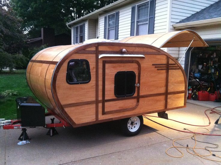 Finished exterior  | Our Teardrop Trailer build photos | Trailer diy