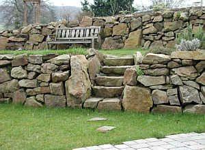Trockenmauer aus Ruhrsandstein
