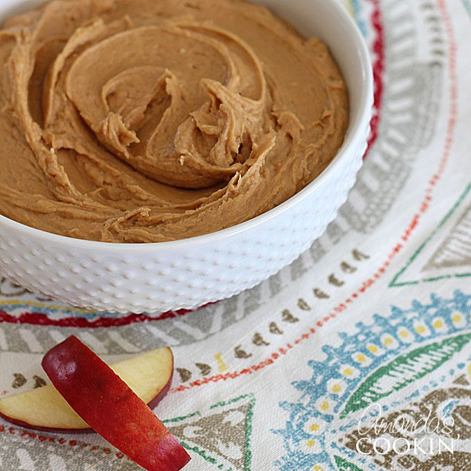 This delicious peanut butter apple dip is made with cream cheese, peanut butter, brown sugar and milk. The perfect dip for sliced apples!