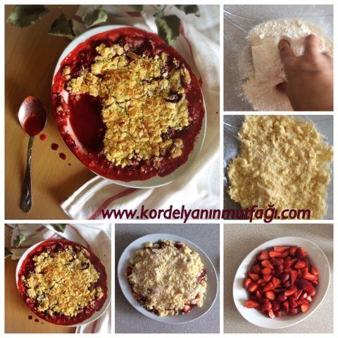 Kordelyanın mutfağı: ÇİLEKLİ CRUMBLE