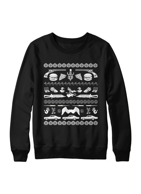 SweaterBlack #supernatural Can this be my KickAssAwesome ugly Christmas sweater....?!?