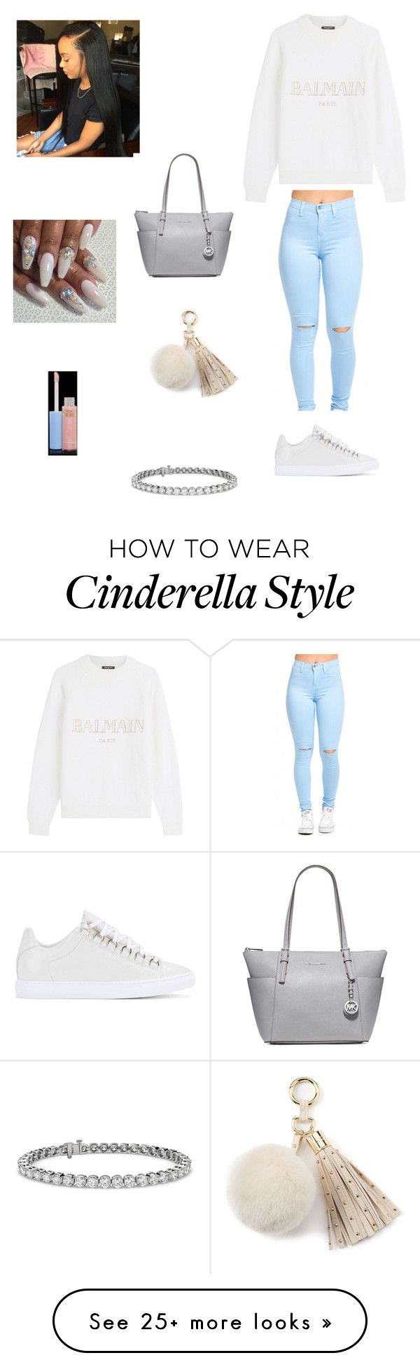 """""""I remember the first time that I kissed you baby ❤"""" by purple2haze on Polyvore featuring Balmain, Balenciaga, MICHAEL Michael Kors, Juicy Couture, MAC Cosmetics and Blue Nile"""
