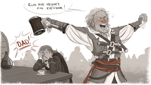 art assassin's creed haytham kenway edward kenway this is not a ...