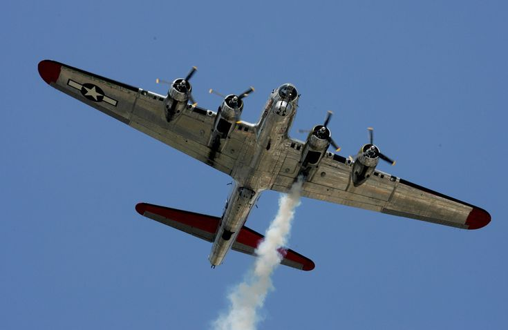 A B-17 Flying Fortress, from the Yankee Air Museum performs a flyover prior to the NASCAR Nationwide Series at Michigan International Speedway on August 15, 2009 in Brooklyn, Michigan