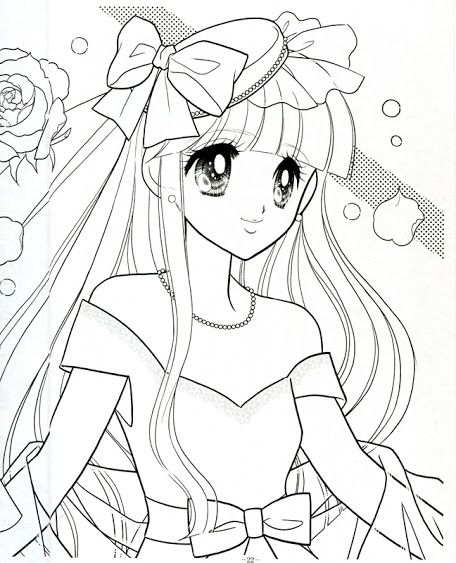japanese princess coloring pages - photo#20