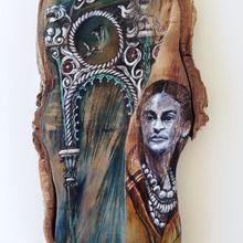 joan martin, history?, mixed media on sliced wood,42x18cm.jpg