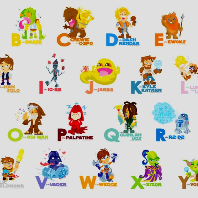 Cartoon Characters Letter Z : Best star wars a to z images on pinterest