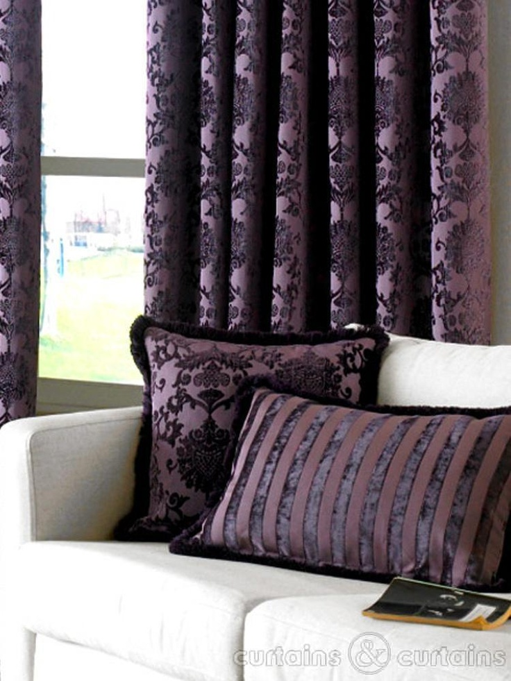 In love with Luxury Purple Velvet #curtains