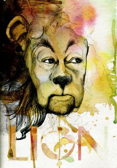 Cowardly Lion  society6.com/michaelscottmurphy