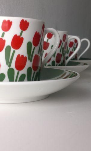 Gustavsberg Sweden 4 Pcs Juliana Coffee Cups Saucers by STIG Lindberg | eBay