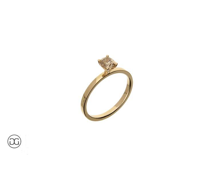 Unikat Verlobungsring Solitär Rosegold 750 Diamant im Kissenschliff 0,52ct