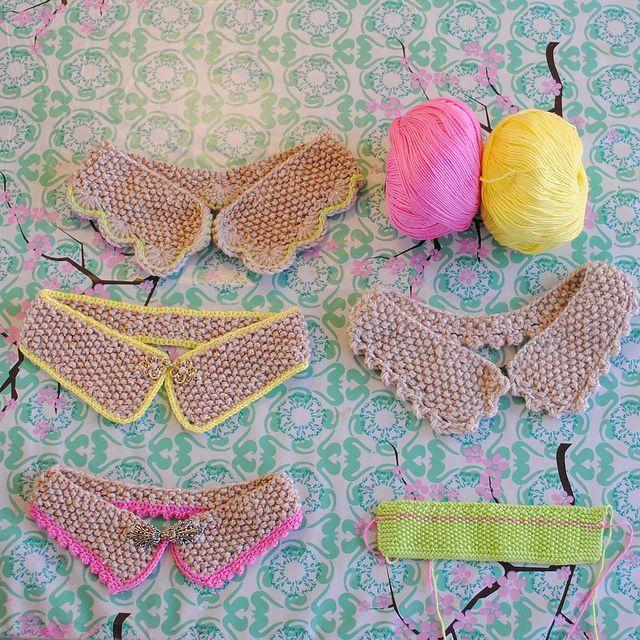 beautiful knit collars!