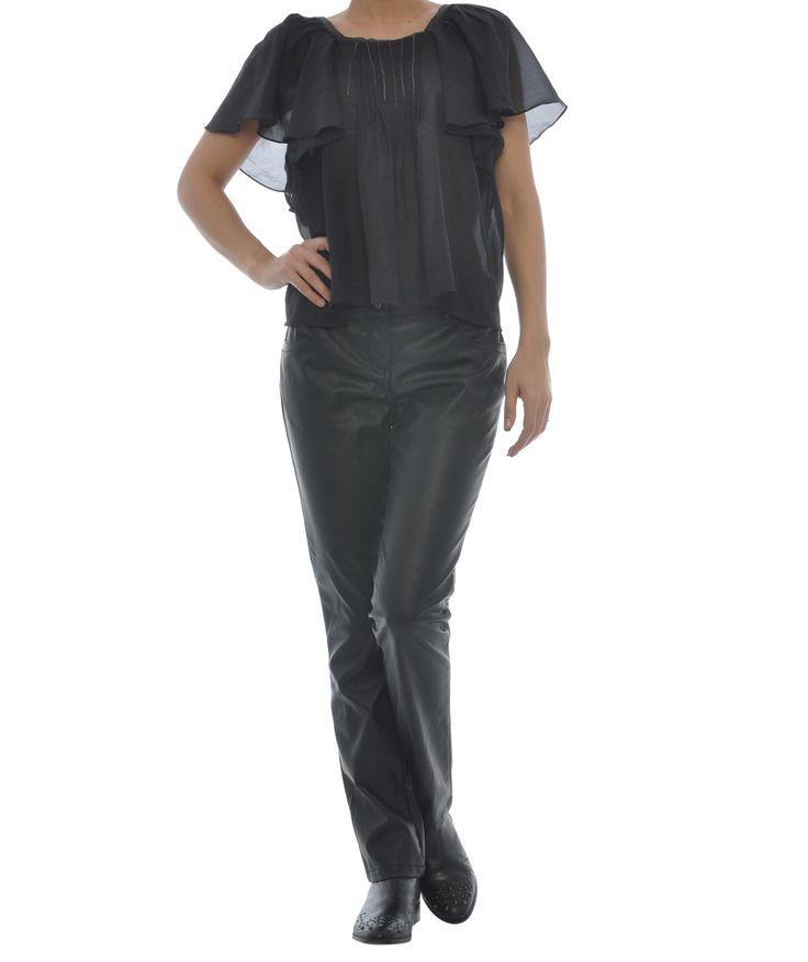Pantaloni din imitatie de piele - Dama - 42 Lei. | Miniprix.ro