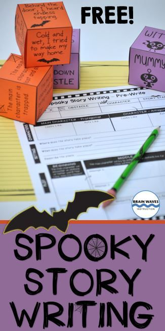 FREE! Your students will love this fun and engaging creative writing activity that will have them rolling story element dice (setting, character, obstacle, and a story starter) to create a random set of story components. Once students have their story components, they'll plan and write a spooky story as they combine each element into an entertaining writing piece.