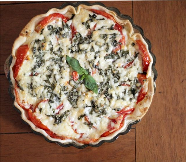 Tomato Basil Pie: perhaps my favorite food - The Flourishing Abode