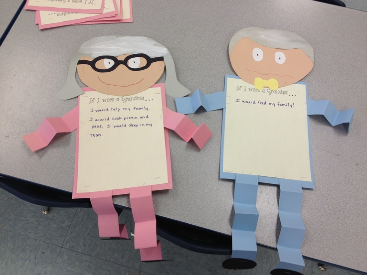 Great project to display for grandparent's day!