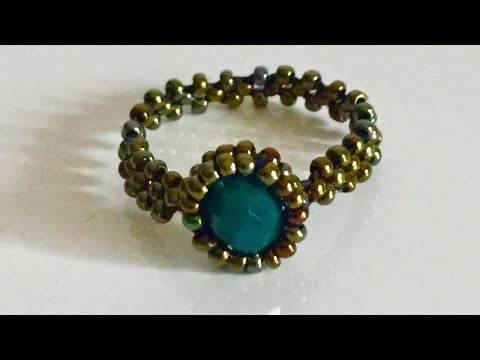 Stitch square technique Ring making - Kare dikiş tekniği ile yüzük yapımı ( elde dokuma ) Dıy - YouTube