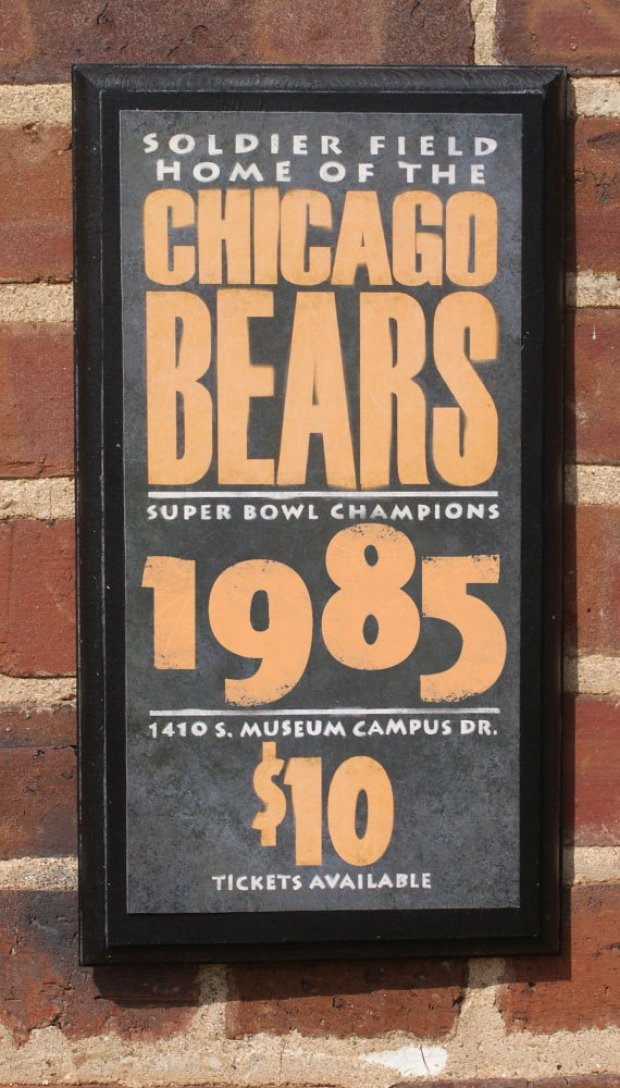 Chicago Bears Vintage Poster