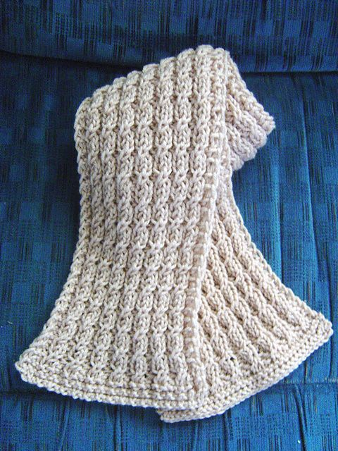Knitting Pattern For Reversible Scarf : Ravelry: Toasty Twisty scarf pattern by Yvonne Senecal ...