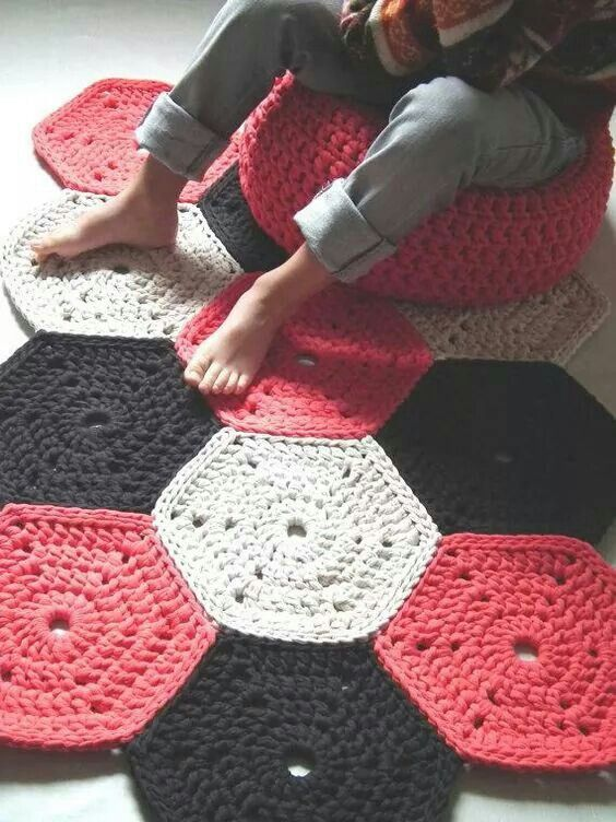 Ideas: tapetes faciles y bonitos en crochet o ganchillo