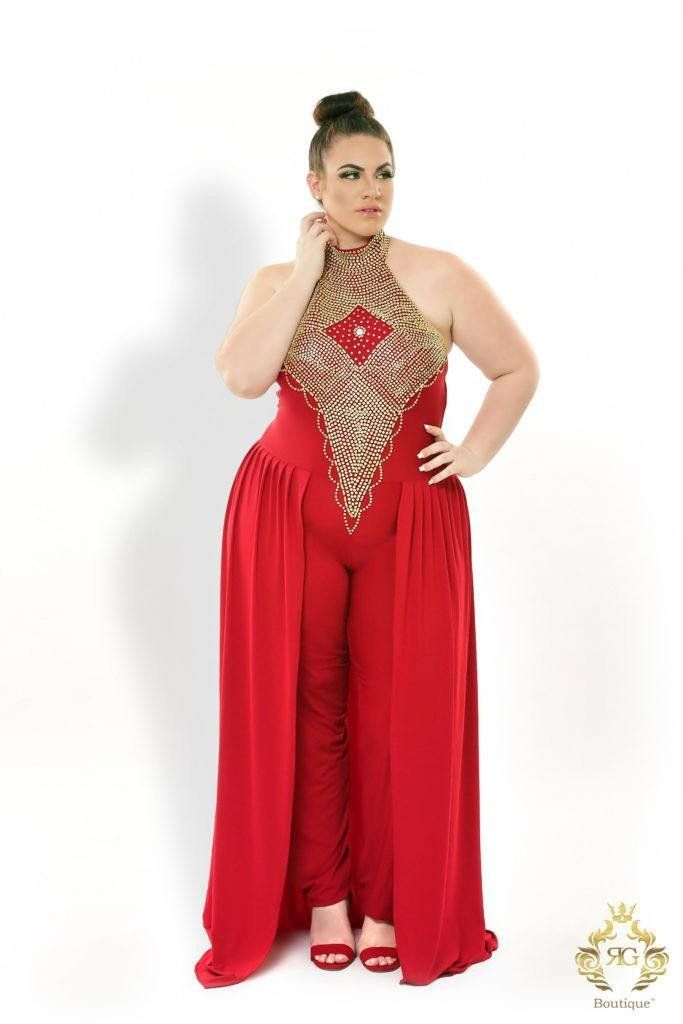 c55400d13088 Steal the show in this Xenia Choker Red Cape Jumpsuit. This cape-style  jumpsuit