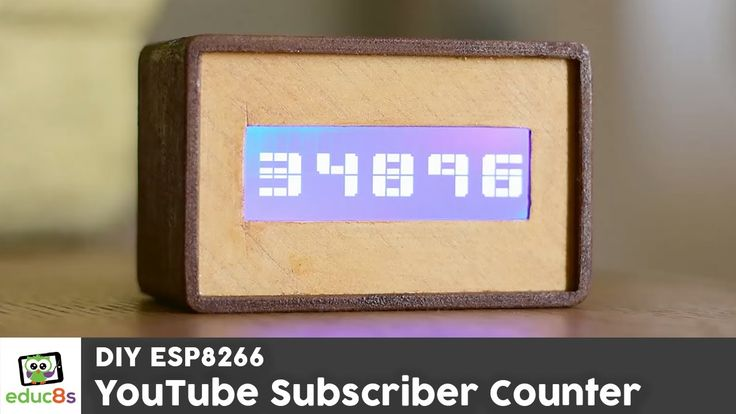 ESP8266 Project: YouTube Subscriber Counter with a Wemos D1 mini and a 2...
