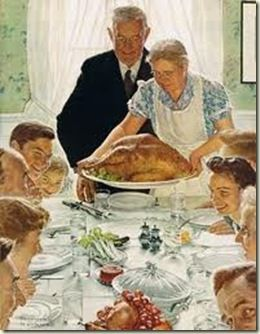 Image result for norman rockwell home for the holidays
