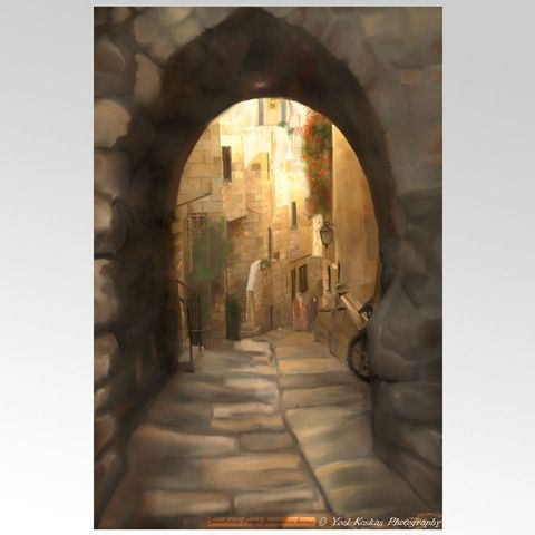 Jerusalem The Tunnel Print by Sandrine Kespi – Matana Boutique