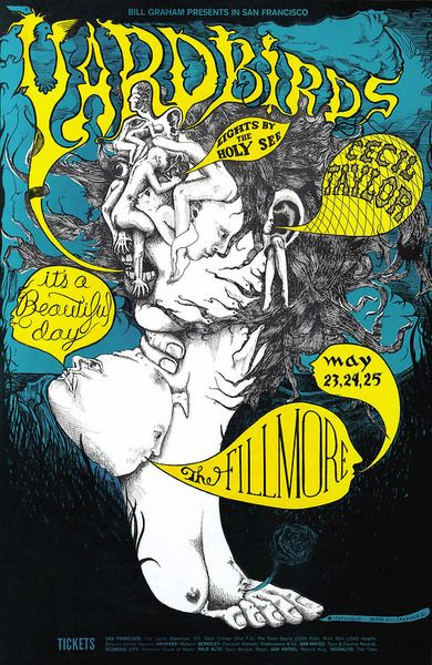 """Yardbirds/It's a Beautiful Day/Cecil Taylor, Lights """"Holy See"""", May 23 - 251968 - Fillmore Auditorium (San Francisco..."""