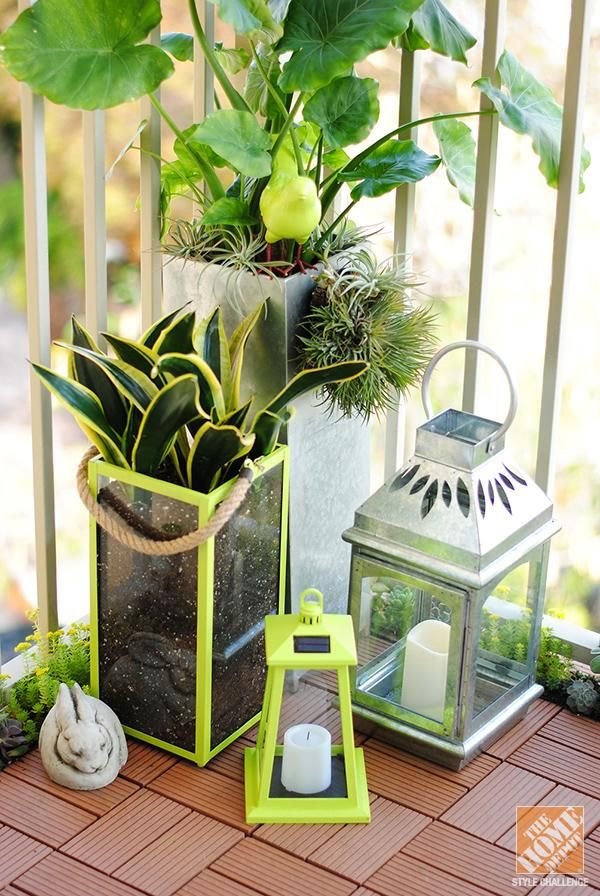 Small patio ideas making the most of a small urban space decorative lanterns decorating - Small urban spaces image ...