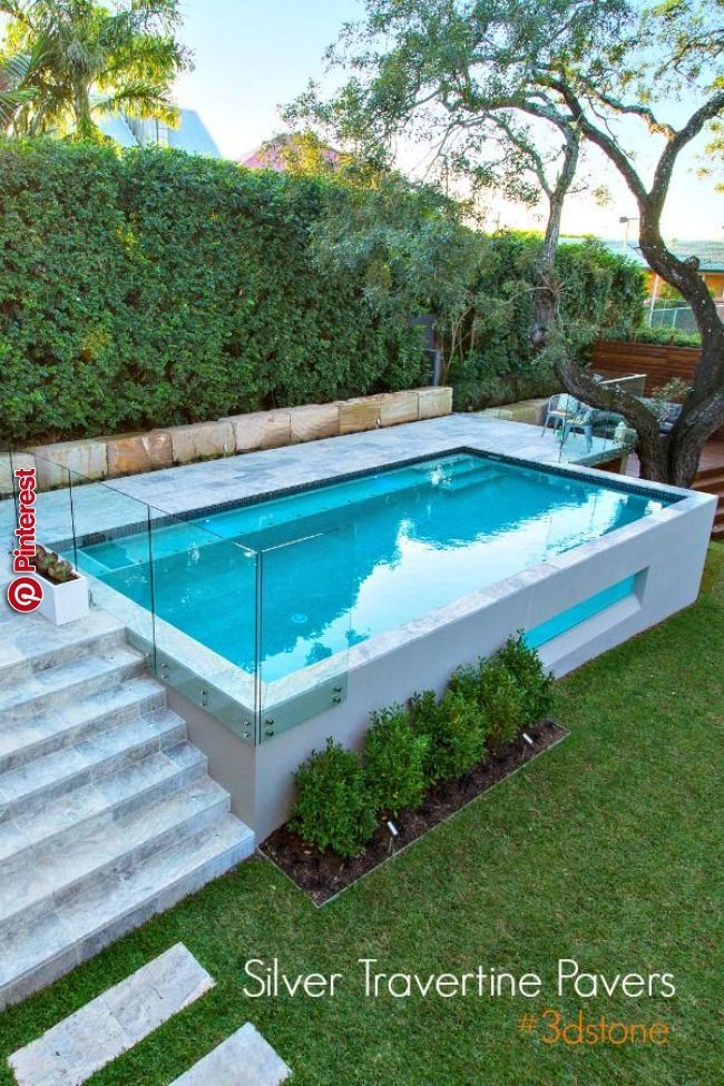 Beautiful Elevated Pool Beautiful Elevated Pool Backyard Pool Houses Small Pool Design