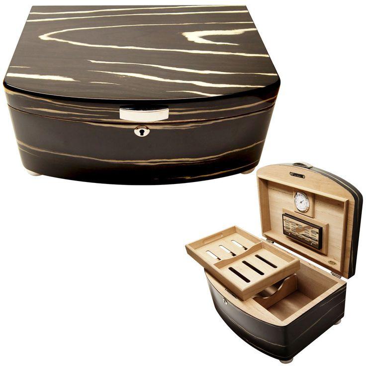 cuban crafters exclusivo black cigar humidors - Cigar Humidors