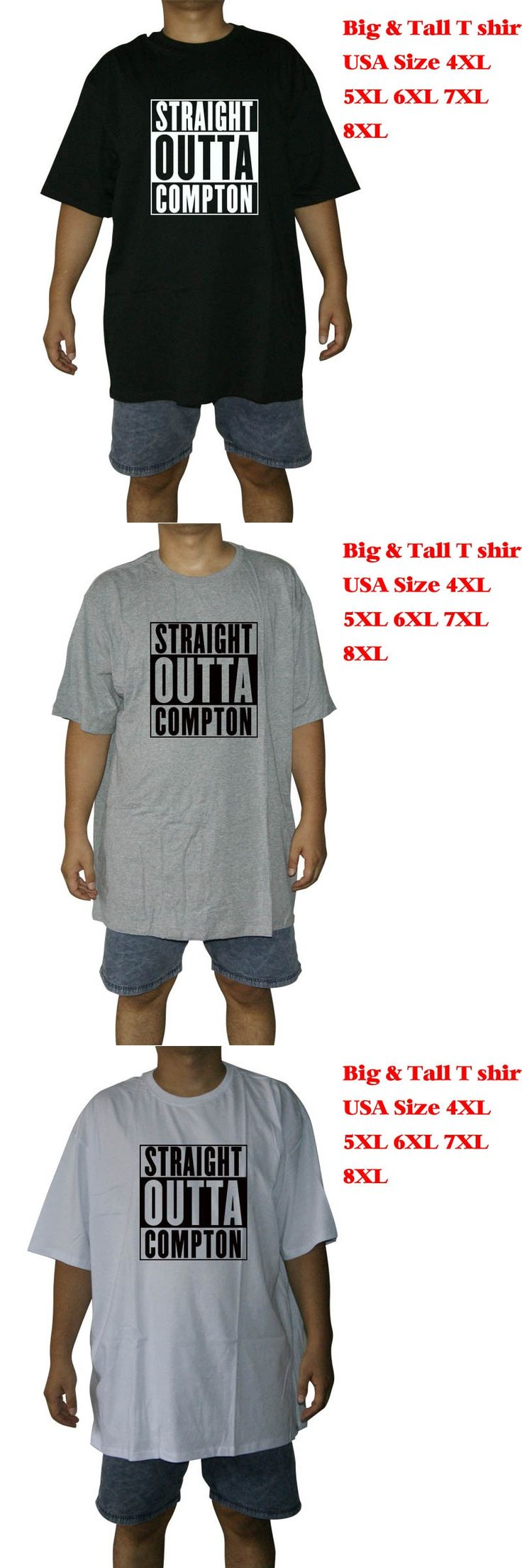 Big and tall T Shirt men Straight Outta Compton NWA California GOTHIC Eazy E NWA Dr. Dre hip hop fat tee USA 4XL 5XL 6XL 7XL 8XL