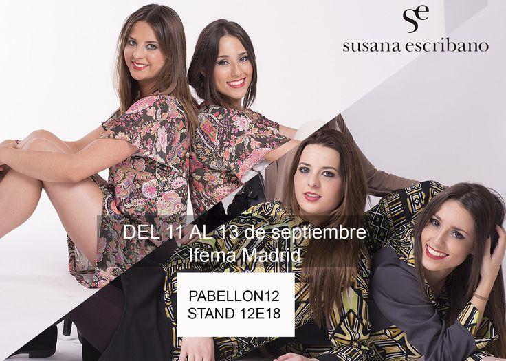 del 11 al 13 de septiembre en Ifema Madrid, MOmad Metrópolis. Podrás ver nuestra novedades verano 2016 y moda pronta invierno 15-16