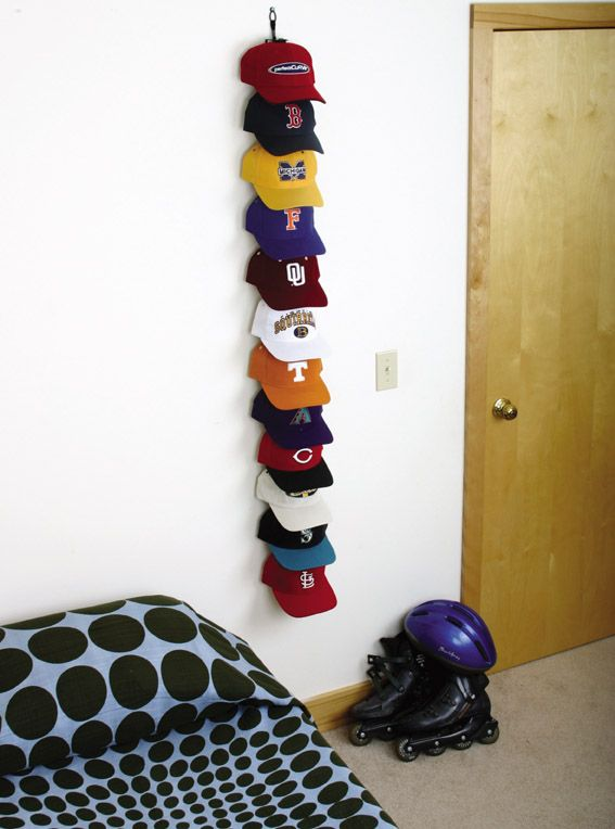 Hat storage - I desperately need this for all of Andrew's hats!