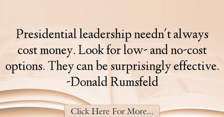 Donald Rumsfeld Quotes About Money - 47701