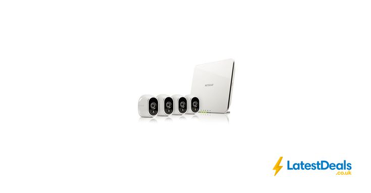 Arlo Smart Home 4 HD Security Camera Kit 100% Wire-Free, Indoor/Outdoor, £339.99 at Amazon